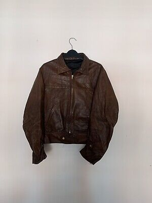 Y2k 90s Vintage Brown Leather Jacket