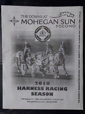 Pocono Downs 2018 Opening Night Program   Saturday  March 17Th   Harness Racing