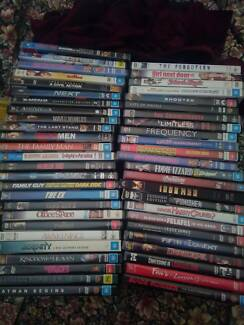 Assorted DVDs movies and series