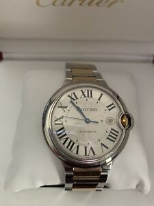 CARTIER BALLON BLEU LIKE NEW 2 TONE PATEK ROLEX HUBLOT