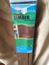 Timber Basswood Venetian Blinds.  25mm slats. Brand new in box Holland Park Brisbane South West Preview