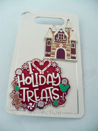 Disney Two PINS of Holiday Treats Showing Mickey Icons with Free Shipping