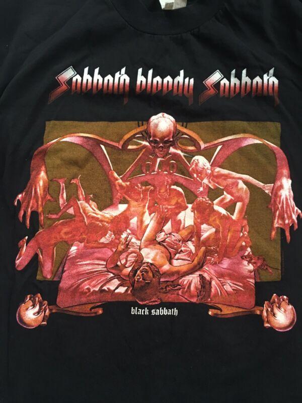 Vintage Black Sabbath Bloody Sabbath T-Shirt Black Double Stitch XL Made In USA