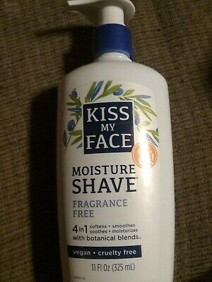 Kiss My Face Fragrance Free Moisture Shave, 4 in 1. 11 fl oz Vegan. New  (Face Fragrance Free Moisture)