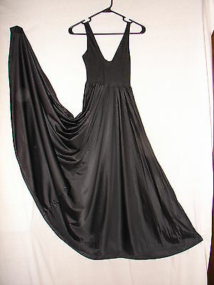 4a6b829c7 Vintage Olga Black Grand Sweep Gown nightgown gown~ Size M nice timeless  design for sale
