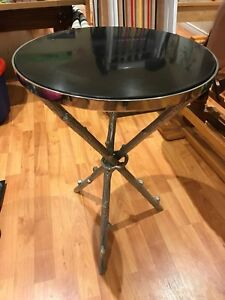 Marble Top Round Side Table