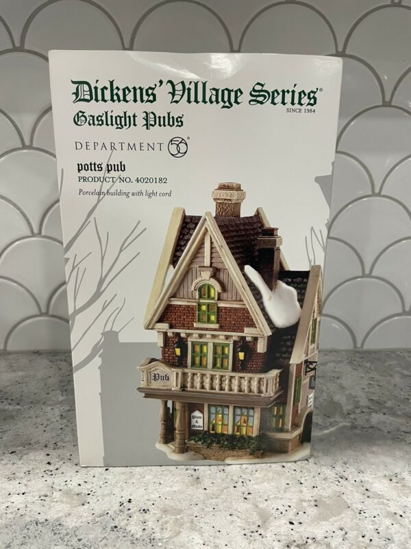 Dept 56 Dickens Series Gaslight Pubs Potts Pub 4020182 NIB- Retired Rare