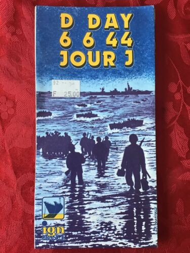 D Day 6 6 44 Jour J Strategic and Chain of Command Map 44x35 By IGN 1984