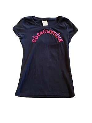 Abercrombie Kids Girls Navy Blue T-Shirt Size S