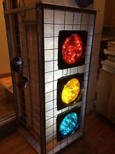 Upcycled-traffic light discs-bed frame-led lights-man/boycave East Kurrajong Hawkesbury Area Preview