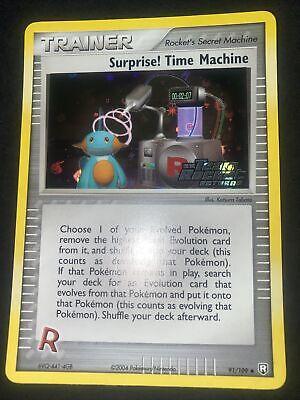 Surprise! Time Machine 91/109 Ex Team Rocket Returns Reverse Holo Near mint nm