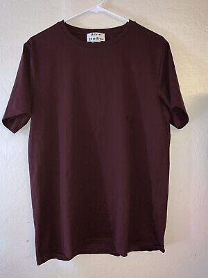 Acne Studios Niagara Basic Burgundy T Shirt Size Small