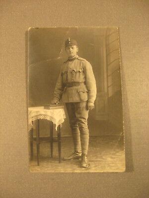 Soldat in Feldgrau.Privatpostkarte 1.WK.ca.1916-Antic Soldier 1.WK