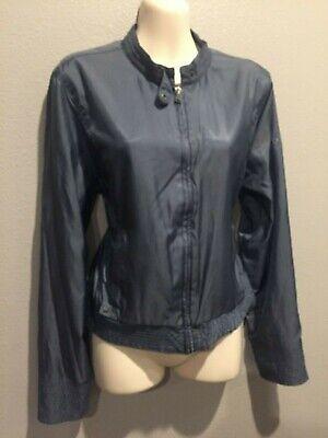 Women's CONVERSE One Star Gray Bomber Crop Baseball Jacket Size M/L. GUC