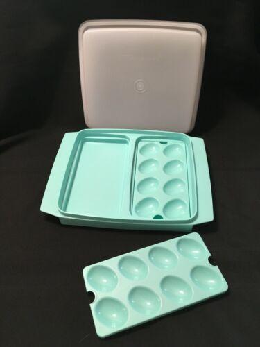 NEW Tupperware Egg Tray - LIGHT AQUA - FREE SHIPPING!