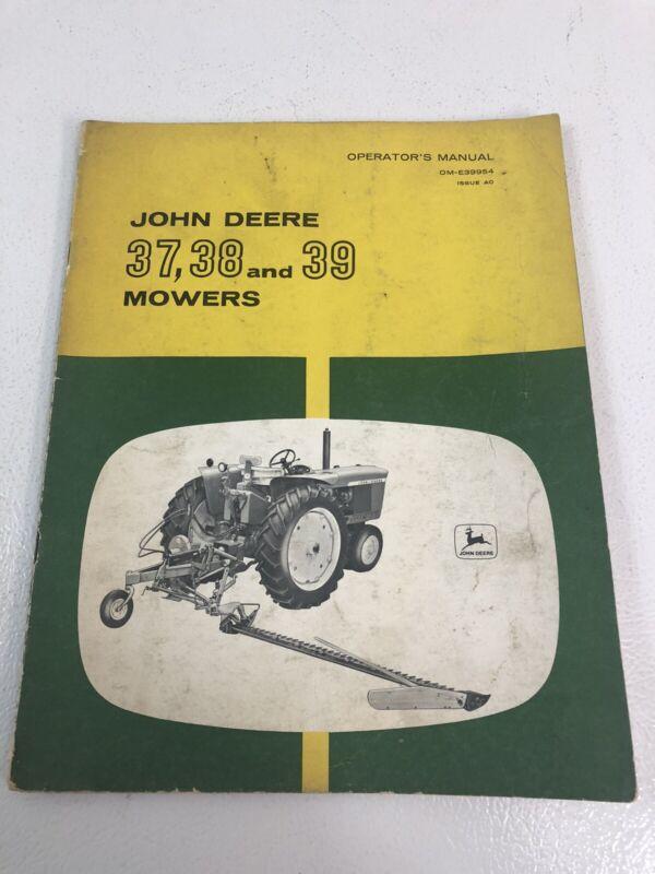 John Deere JD 37 38 39 Mowers Operators Manual