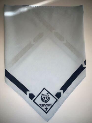 BSA Bear Cub Scout Light Blue Neckerchief Scarf Used B3_4