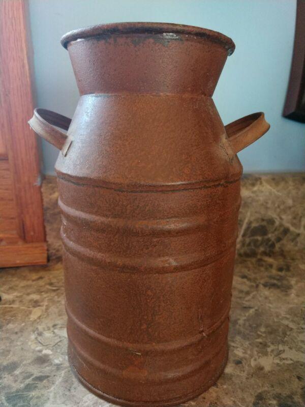 Rustic Decor metal milk can vase