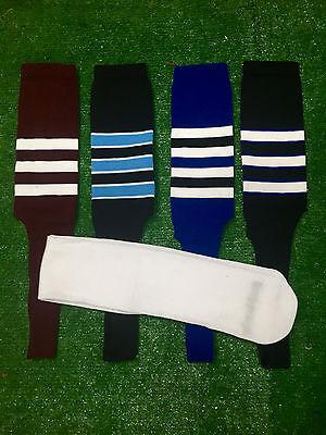 Baseball Stirrups Socks Maroon Royal Black Columbia Stripes with Sanitary Sock Black Baseball Stirrup