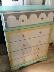 Flower shop inspired dresser- available