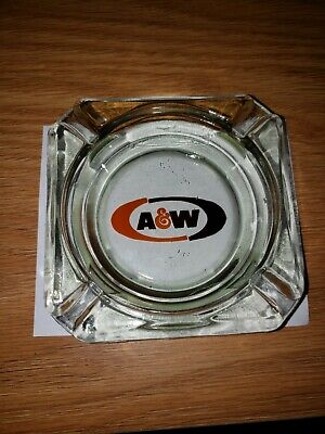 """Vintage A & W Root Beer Glass Ashtray excellent condition 1969-1972 3.5"""""""