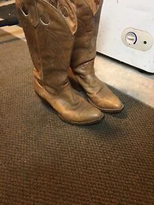 Authentic cowhide men's cowboy boots