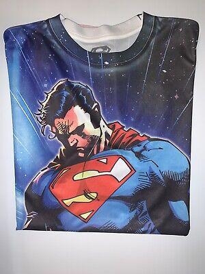 Bioworld Men's Distressed Superman Muscle Halloween Costume Tee Medium, M 38/40