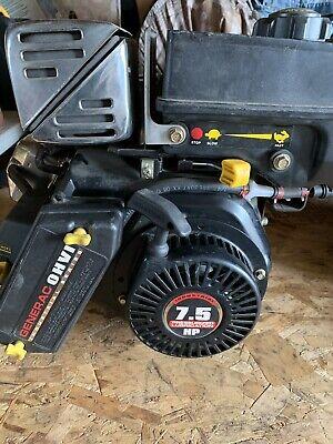 Used 7.5 Hp Generac Horizontal 34 Mini Bike Go Cart Wood Splitter Mud Motor