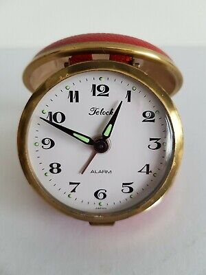 Vintage Retro Telock Folding Travel Alarm Clock