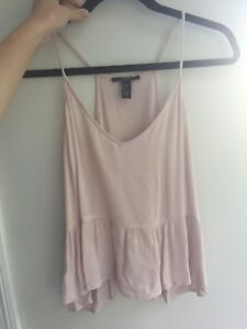 Forever 21 pale pink tank top