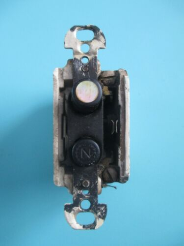 VINTAGE MOTHER OF PEARL PUSH BUTTON SINGLE POLE LIGHT SWITCH N