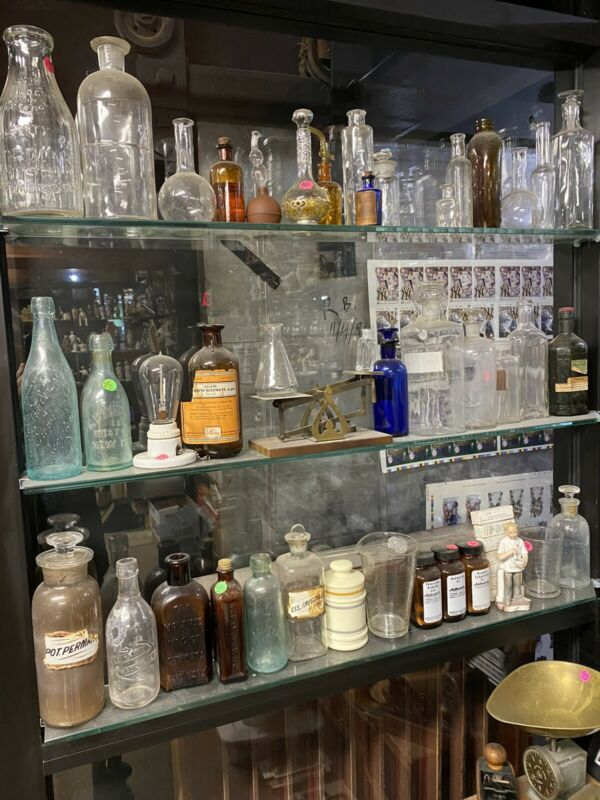 Antique Apothecary Drugstore Pharmacy Bottles Collection Lot Rare Bargain Rare