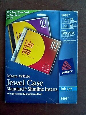 Inkjet Cddvd Jewel Case Inserts Matte White 20pack