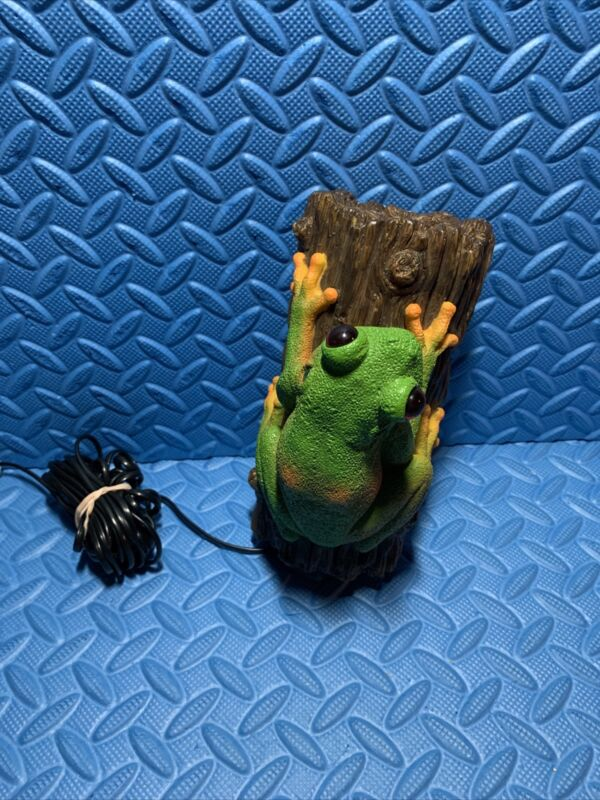 Corded Novelty Telephone Frog On A Log