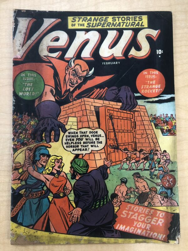 Venus #12 - Thor Loki - Atlas Comics - 1951 - Low Grade