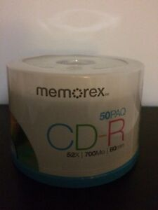 Memorex unopened 50 pack CD-R recordable cd's