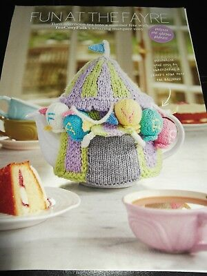 Fun at the Fayre Marquee Tea Cosy knitting pattern by TeaCosyFolk