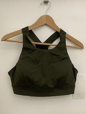 Lululemon Fast Free Bra Nulux NWT Size 10 DKOV Dark Olive Green Color