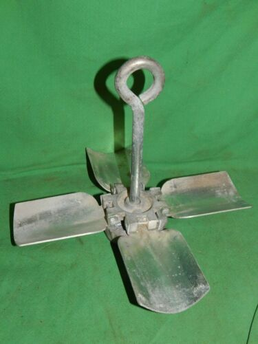 Vintage! Small Folding Steel Boat Anchor Maritime  2 Lbs