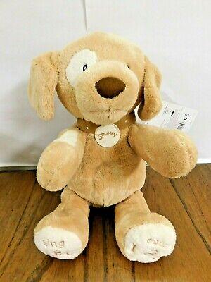 NEW GUND Baby Spunky Doggie ABC 123 Talking Singing Stuffed Animal Plush Dog