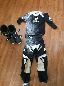 MX motocross gear and boots