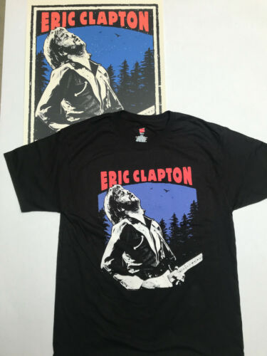 ERIC CLAPTON ONE NIGHT ONLY GREENWICH TOWN PARTY 5/26/18 POSTER AND T-SHIRT
