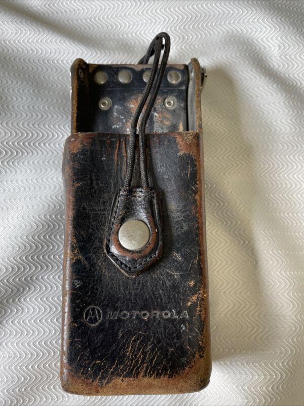 Vintage Leather Motorola Radio Holder Radio Holster Brown
