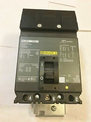 New No Box Square D Fa34020 20a 480v I-line Circuit Breaker Best Price