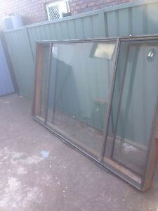 Brown aluminium window Casula Liverpool Area Preview