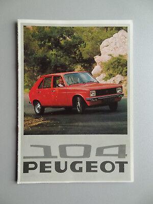 V00612 PEUGEOT 104 4 DOOR