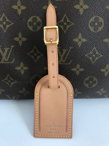 100% AUTHENTIC LOUIS VUITTON LARGE LUGGAGE NAME & ID TAG / NEW MADE IN FRANCE