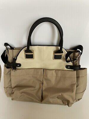 Skip & Hop Tan Mommy Bag Grand Central Take-It-All Diaper Bag Tote