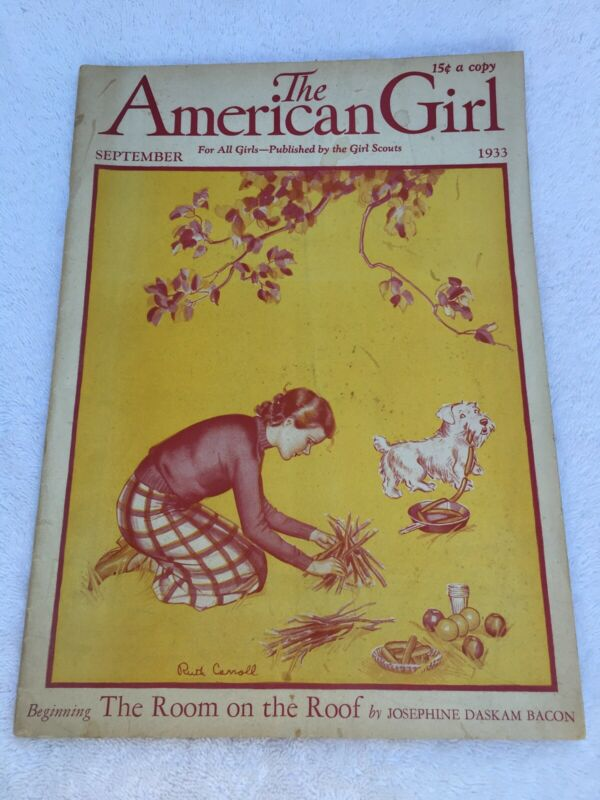 The American Girl Magazine September 1933 The Girl Scouts