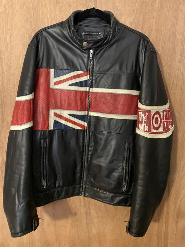 The Who Leather Jacket, Size XL, Vintage & Rare